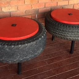 DIY Tyre Coffee Table
