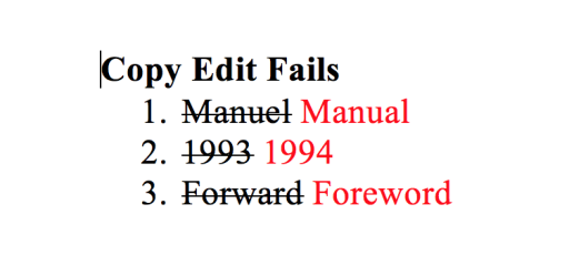Copy Edit Fails