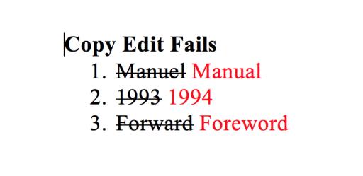 Copy Edit Fails